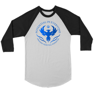 Potential In Everyone Canvas Unisex 3/4 Raglan - Potential In Everyone