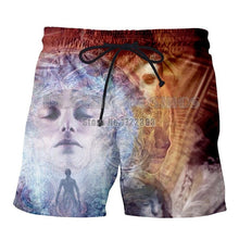 Load image into Gallery viewer, PLstar Cosmos Gratitude Earth Men 3d Print Buddha Casual Shorts Men Buddha Psychedelic Beach Shorts Trousers Elastic Fitness