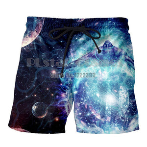 PLstar Cosmos Gratitude Earth Men 3d Print Buddha Casual Shorts Men Buddha Psychedelic Beach Shorts Trousers Elastic Fitness