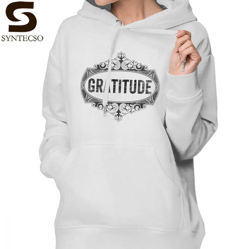 Grateful Thankful Blessed Hoodie Gratitude Hoodies Street wear Graphic Hoodies Women XL Simple Long Sleeve Pullover Hoodie