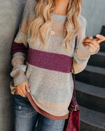 MULTICOLOR ELEGANT KNIT WEAR WOMEN'S SOFT PULLOVER SWEATERS