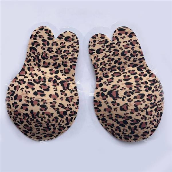 Leopard Printed Breast Lifting Adhesive Bra