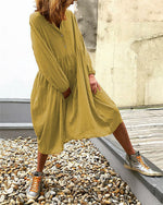 Summer Long Sleeve Holiday Daily Fashion Midi Dresses