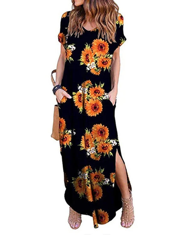 Casual Loose Long Dresses With Pockets