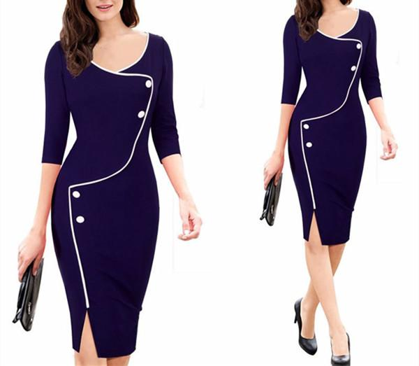 Elegant Sexy Crew Neck Bodycon Party Dress