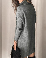 High Neck Pullover Long Sleeve Dress