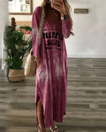 Casual Gradient Women Fashion Summer Holiday Maxi Dresses