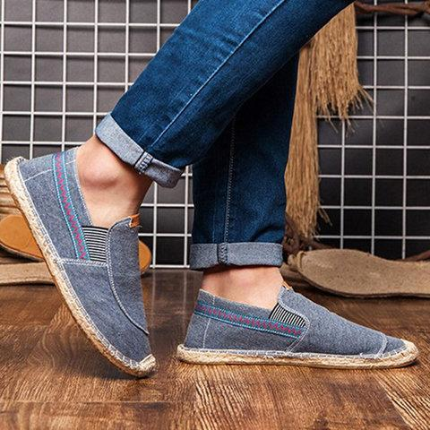 Canvas Elastic Band Flats Loafers