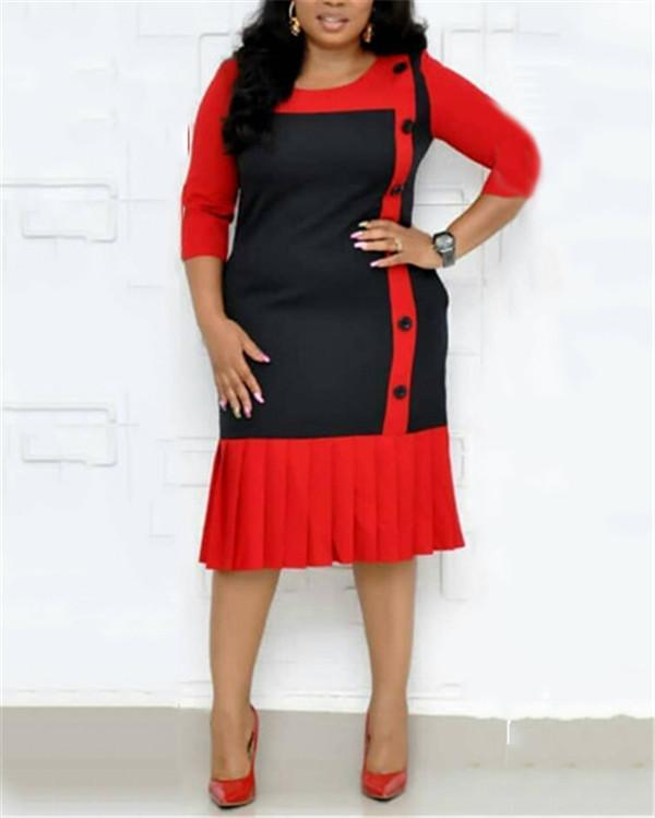 Hot Sale Women Plus Size  Dress