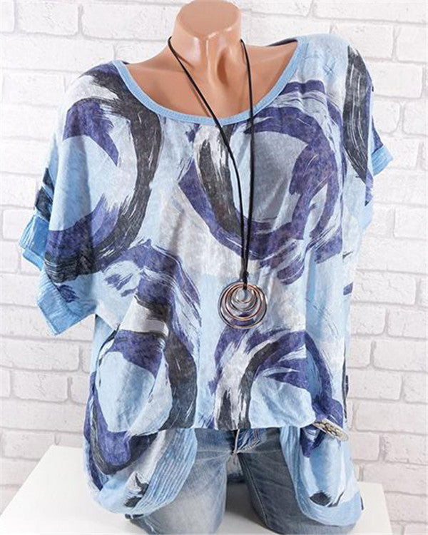Loose Printed Daily Casual Blouse