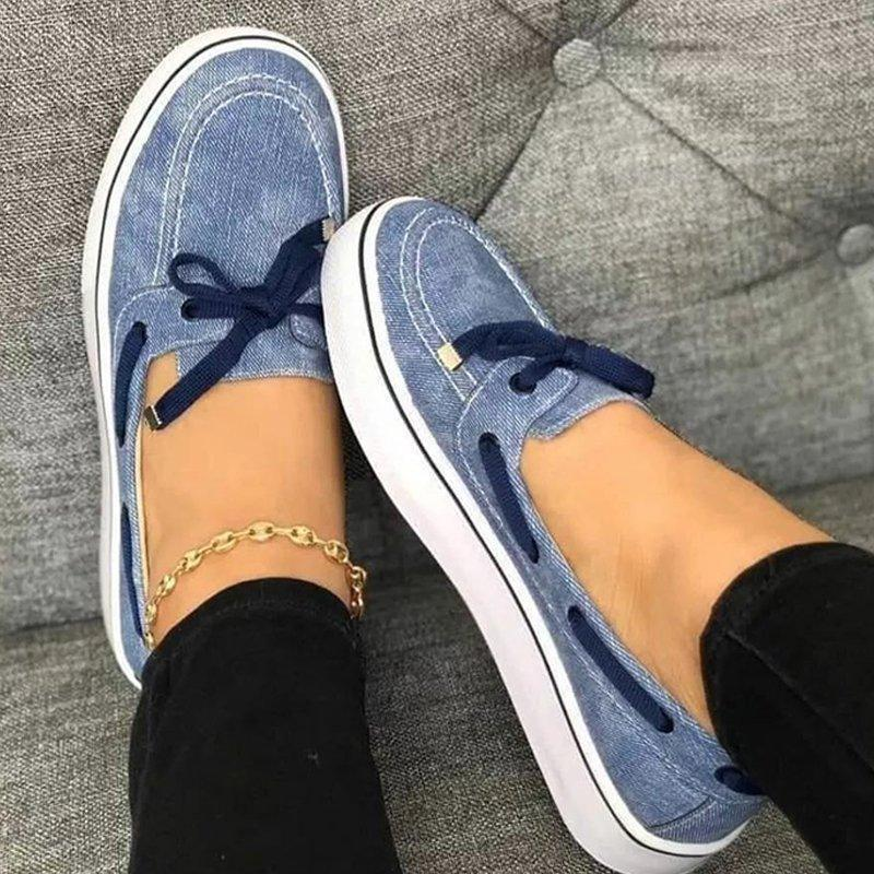 WOMEN FAUX SUEDE COMFY SNEAKER SHOES
