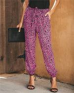 Leopard Women Bottom Fashion Lady Loose Pants