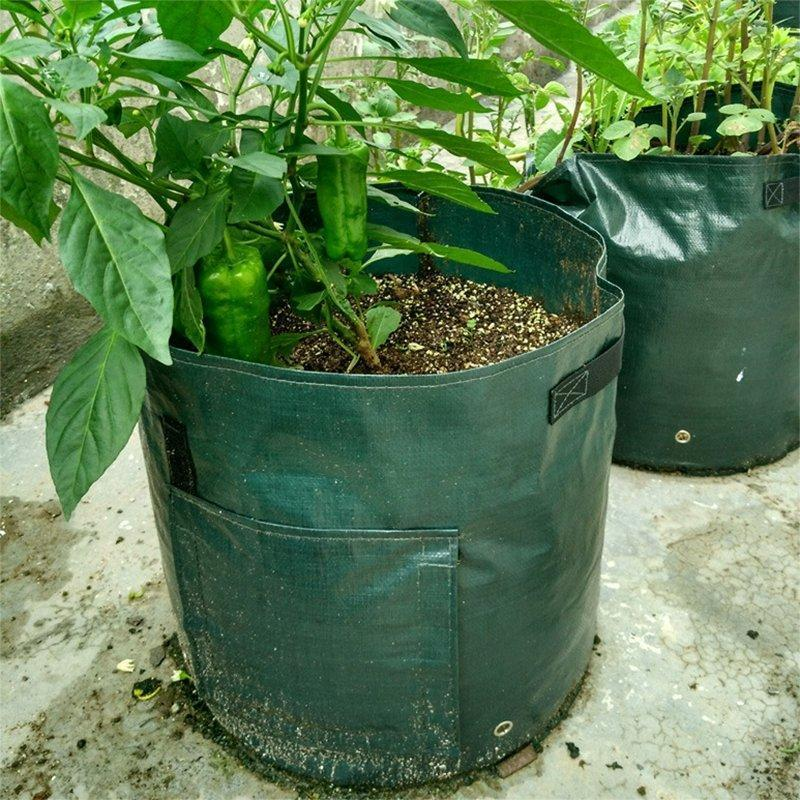 50L Large Capacity Potato Grow Planter PE Container Bag Pouch Tomato Vegatables Garden Outdoor