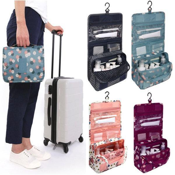 Travel Cosmetic Makeup Storage Bag Hanging Organizer Bag