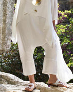 Simple Large Linen Retro Plus Size Pants