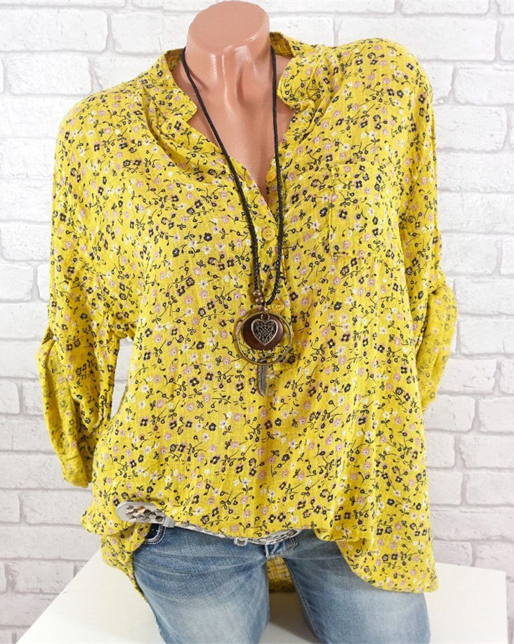 Casual Printed Blouse Women Tops