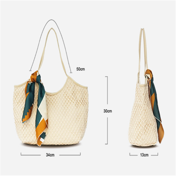 Women's Casual Hallowed Woven  Beach Shoulder Bags