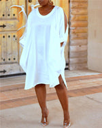 Loose Shirt Cloth Cuff Dress