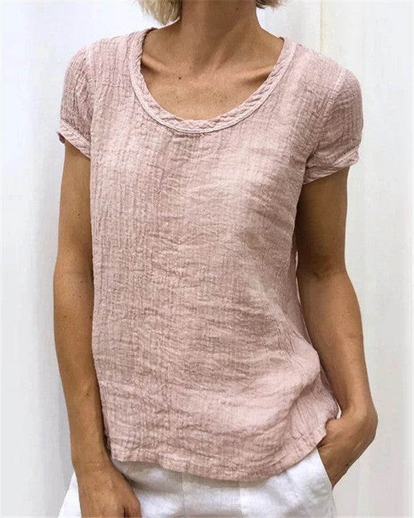 Summer Short Sleeve Women Casual Tops