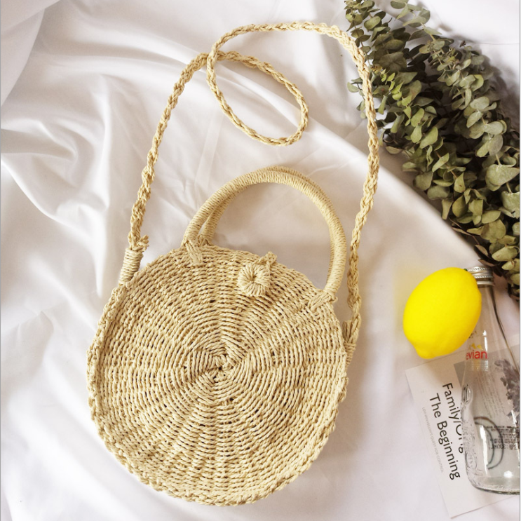 2019 Fashion Chic Round Straw Crossbody Bags