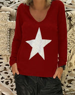 Long Sleeve Fall New Fashion Holiday Casual Lady Daily Shift Tops