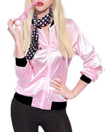 Women Pink Lady Jacket Retro Grease Halloween Costume