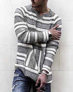 Men's Pullover Geometric Winter Loose Shirts