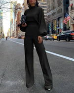 Long Sleeve Solid Elegant Jumpsuit