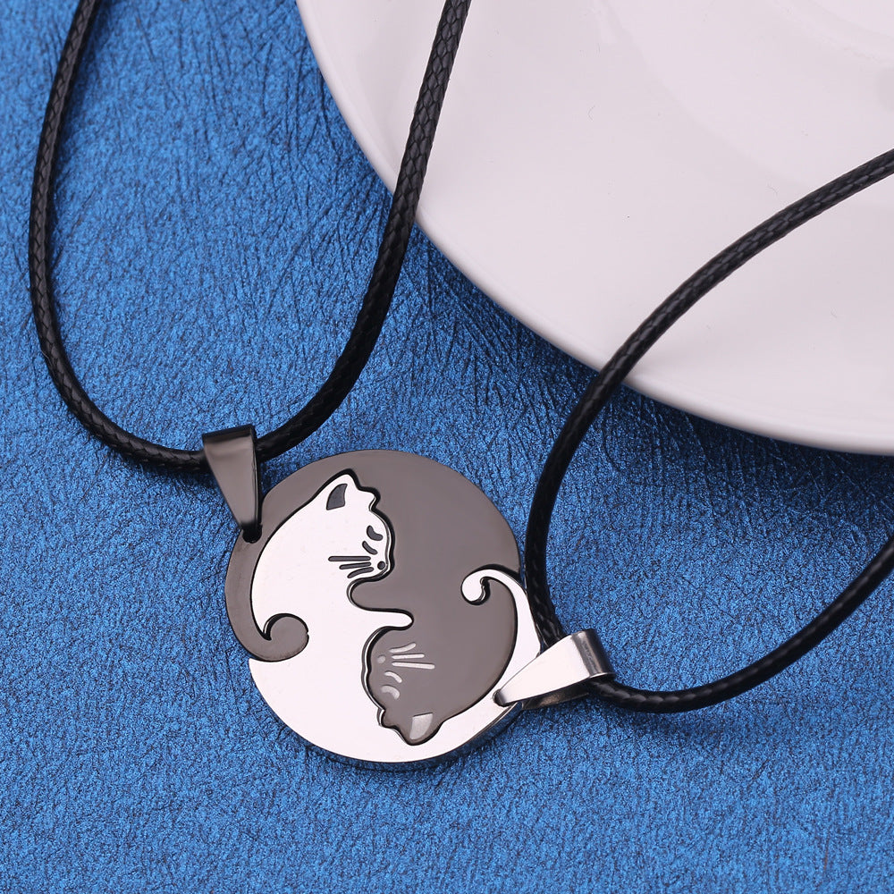 Cute Cat Couple's Necklaces