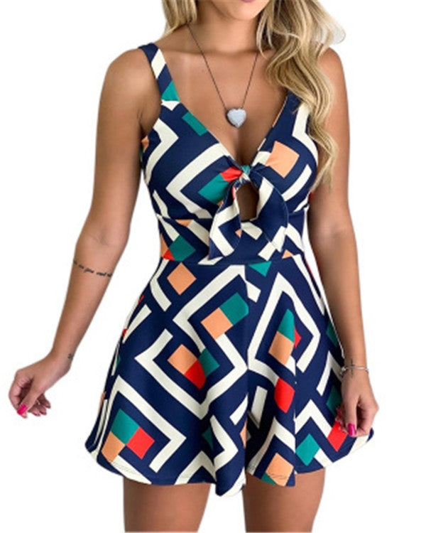 Printed Casual Summer Sleeveless Party Dresses