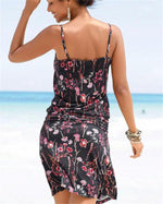 Women Casual Summer Sleeveless Floral Vacation Dress