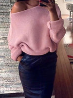 Sexy Pullover Dolman Sleeve Loose Jumper