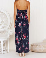 Sexy Backless Coco Pattern Summer Jumpsuits