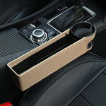 Car Seat Gap Storage Box Multi-function Leather Car Water Cup Holder