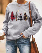 Christmas Trees Plaid Sweatshirt