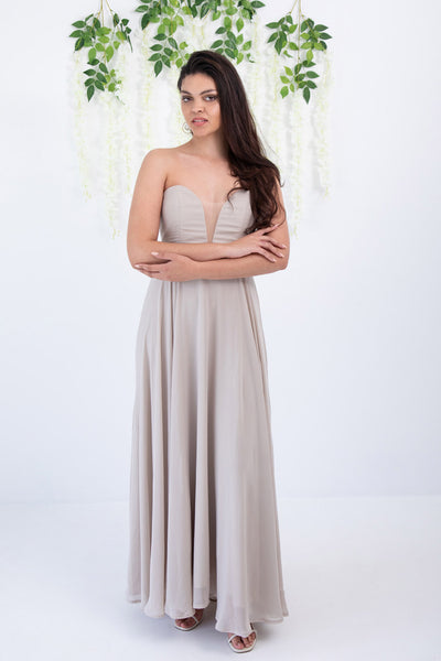 Champagne Strapless Dress