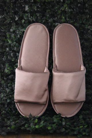 Plain Satin Slippers