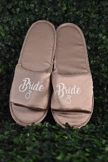 Branded Bridal Satin Slipper
