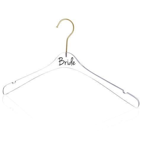 Transparent Personalised Hangers