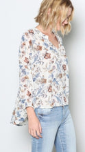 Load image into Gallery viewer, The Vivienne - Off White Floral sheer Blouse