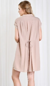 The Priscilla - Pink Champagne Mock Dress