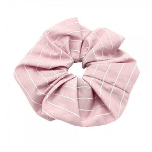 Oversized stripe scrunchies