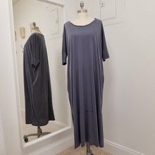 Load image into Gallery viewer, Blu/Grey SS smock dress