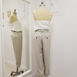 Taupe/Grey tencel pant