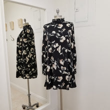 Load image into Gallery viewer, Black Long sleeve floral dress