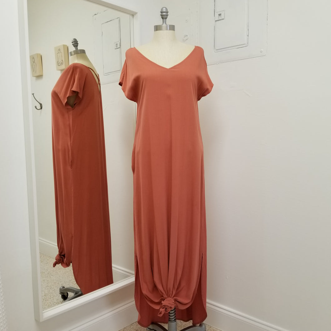 The Isabella Maxi - maxi shift Dress in powdered rust
