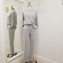 Load image into Gallery viewer, Soft grey jogger lounge set