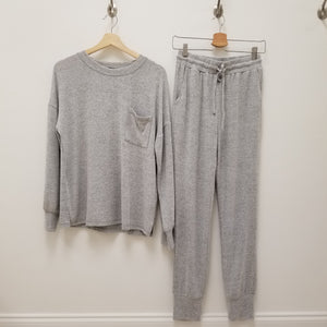 Soft grey jogger lounge set