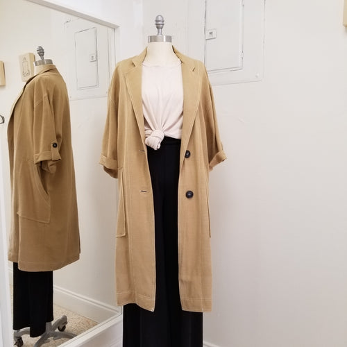 Long Jacket in Taupe
