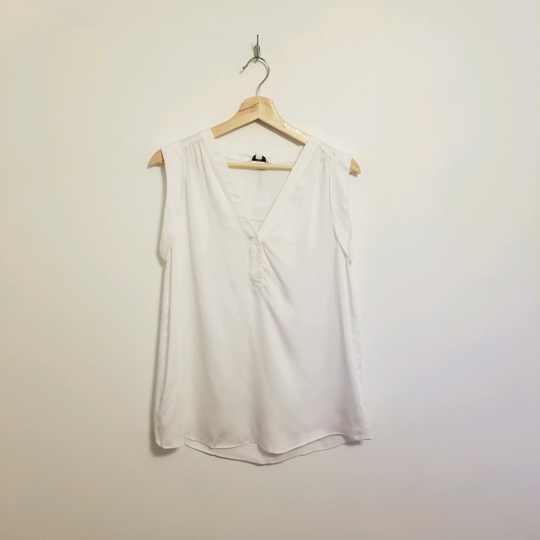 White modal sleeveless top